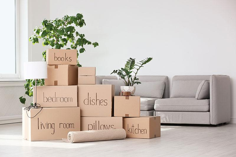 Declutter and downsize before a move